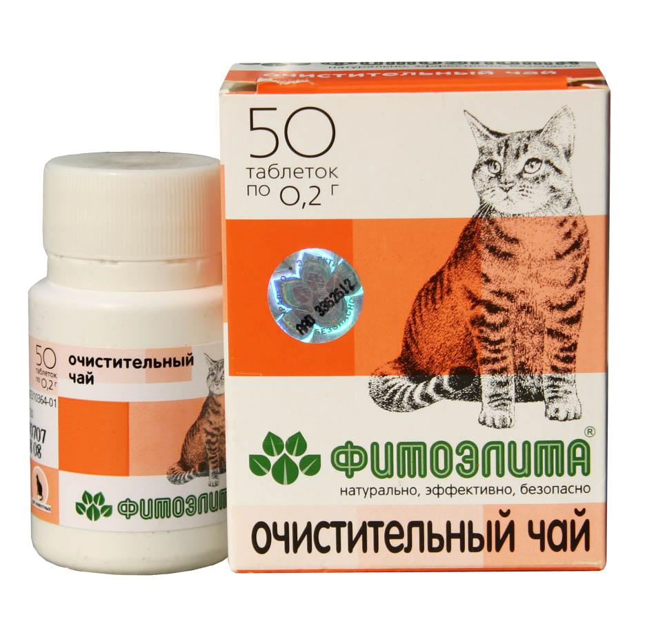 Фитоэлита чай для кошек очистительный